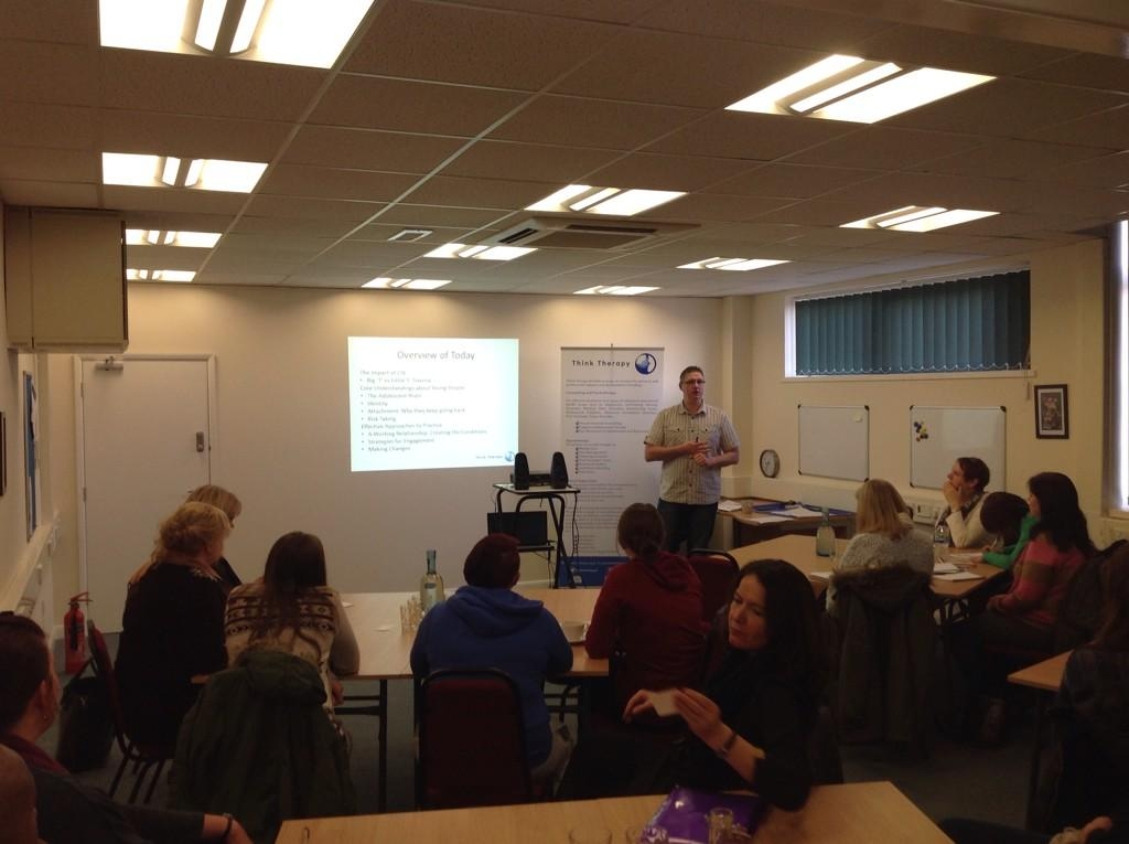 Steve delivering Specialist Trauma Training to members of The National Working Group
